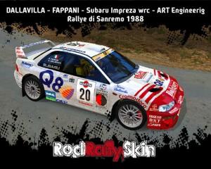 DALLAVILLA-Subaru-Impreza-wrc-Sanremo-1988